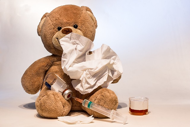 cold flu stuffed bear