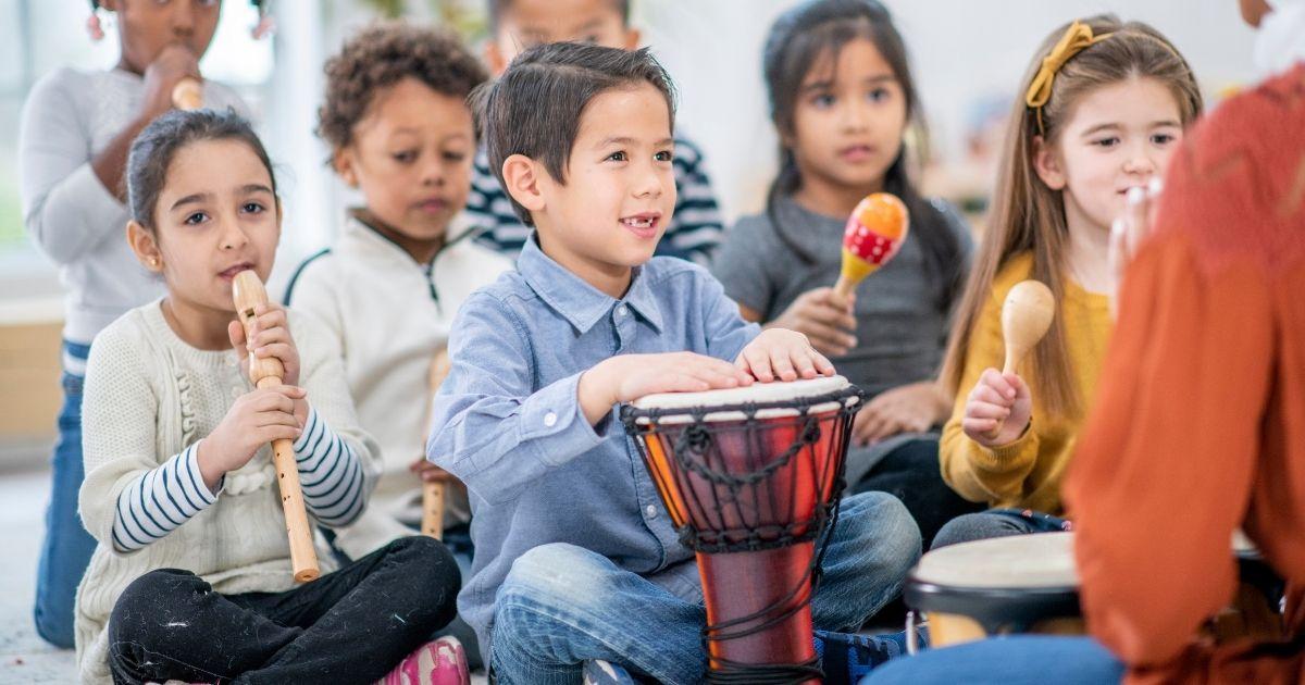 Music helps with children development